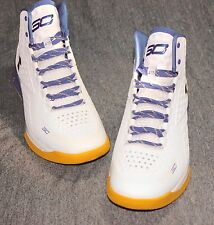 UNDER ARMOUR UA CURRY 1 DUB NATION SZ 11 WHITE BLUE YELLOW 1258723 105