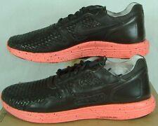 New Mens 13 NIKE Lunar Flow Woven LTH TZ Black Tea Leather Shoes $175 559969-220