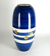 Heinrich Porzellan Vase Serie Gemmo Handgeschliffen Echt Kobalt ca. 27,5cm