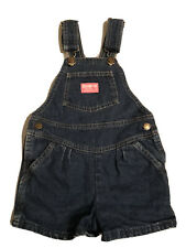 Vintage 1990's OSHKOSH B'GOSH Vestbak Size 6 Girls Blue Jean Denim Bib Overalls
