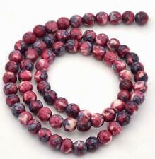 JADE RED GEMSTONE BEADS approx 39CM string  x 8mm beads