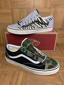 RARE🔥 VANS Style 36 Mismatch Zebra CAMO Sneakers Sz 13 Skateboarding Shoes
