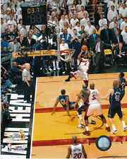 "DWAYNE WADE  B ""MIAMI HEAT "" NBA FINALS COLOR LICENSED 8 X 10  PHOTOGRAPH"