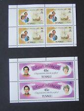 Tuvalu 1981 Royal Wedding booklet panes Lady Di Charles MNH UM unmounted mint