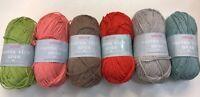5 x 100g Sirdar Cotton Rich Aran Wool/Yarn for Knitting/Crochet