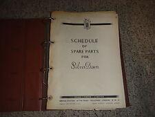 1949 Rolls Royce Silver Dawn Parts Catalog Manual 1950 1951 1952 1953 1954 1955