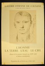 Affiche exposition Galerie Etienne de Causans 1973 Peinture du XIX th
