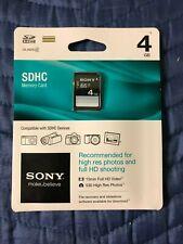 Sony 4GB SDHC Memory Card SF-4N4/TQ2 New!