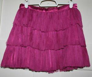 Gapkids Girl's Dark Pink 3 Tiered Lace Skirt Size Medium 8