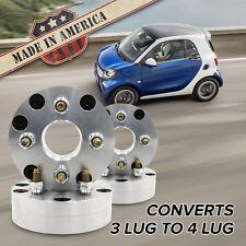 "3x112 - 4x100 (3 Lug Smart to 4 Lug Wheel)   Adapters / 1.75"" Spacers   x4 USA"