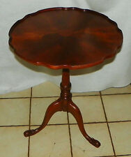 Mahogany Carved Inlaid Lamp Table by Imperial (RP-T534)