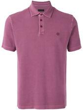 Ermenegildo Z ZEGNA Light Plum Pique Cotton Polo Shirt Top S RRP: £150.00