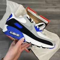 NIKE AIR MAX 90 GS LTR BLUE TRAINERS SIZE UK3.5 US4Y EUR36 CM23