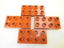 LEGO DUPLO 4 Bauplatten 2 x 4 Noppen in hellbraun 5795 10505 10835 5639 5608