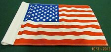 "REGULATION GOLF TUBE FLAG -  AMERICAN - SIZE 14""X20"" - TWO SIDED"