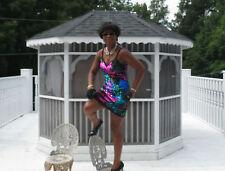 Designer Fabulous Multicolored vintage sequined Dress M  sZ 4-6