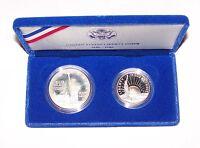 1986 U.S. Liberty Commemorative Dollar & Half Coin Proof Set Encapsulated In Box