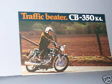 1972 Honda CB350 K4 SUPER SPORT Motorcycle Sales Lit