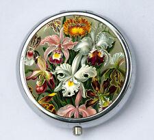 Flowers PILL CASE pillbox holder botanical cute pretty  garden