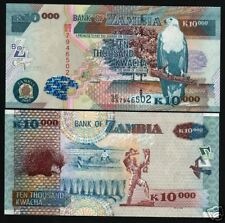 Zambia 10000 Kwacha P46 2007 Porcupine Fish Eagle Unc Africa Currency Money Note