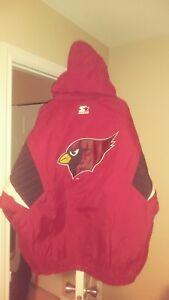 Vintage Arizona Cardinals Throwback Pullover Starter Jacket Large New! NFL