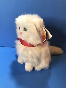VINTAGE 1983 DAKIN WHITE PRINCESS PERSIAN KITTY CAT PLUSH STUFFED ANIMAL TOY