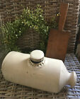 Primitive Beige Porcelain Stoneware Foot or Bed Warmer HORSE CARRIAGE HEATER