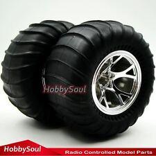2Stück RC 1/10 Big Foot Reifen Tires 2.2'' Felgen Hex 12mm für RC Monster Truck