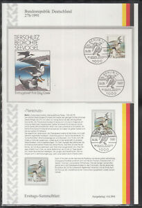 First day collection sheet BRD of 4 ETSB 1991 ANIMAL PROTECTION SEE BIRDS EAGLES