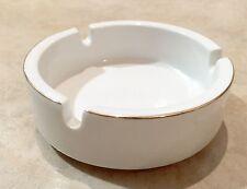 Gold Rim White Porcelain by Design Ash Tray (1 PIECE)