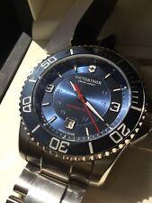 Victorinox Men's Swiss Army Maverick Automatic Mechanical Blue Dial Watch 241706