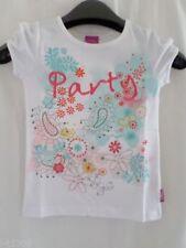 T-shirts, hauts et chemises blanches pour fille de 2 à 16 ans en 100% coton, taille 4 - 5 ans