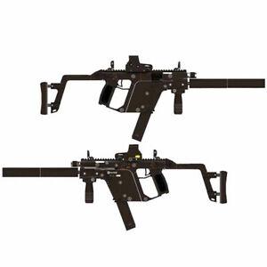 New DIY 1:1 Scale KRISS Super V Assault Rifle Gun DIY 3D Paper Model Puzzle Kit