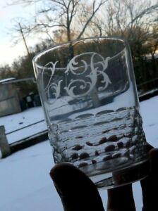 Large Glass Cup Crystal baccarat Model Tortoiseshell Brogue Monogram CB