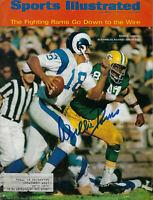 1967 PACKERS Willie Davis signed Sports Illustrated magazine JSA COA AUTO SI