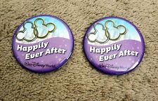 Walt Disney World Parks Happily Ever After Buttons Two Button Set New Wedding