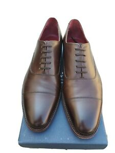Charles Tyrwhitt Brown Oxford Cap Toe Shoe Made In England Goodyear Welted 10.5