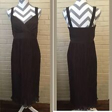 White House Black Market Brown Fit Flare Dress Size Ladies 8 Gown US SELLER
