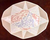 "WEDGWOOD Bone China PASTEL STRATA Oblong Plate/ Small Platter 10"" X 8"" NWOT"