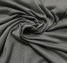Bamboo Cotton Lycra Jersey Knit Fabric Eco-Friendly 4ways spandex - Smoke Gray