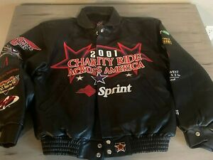 Kyle Petty Charity Ride Deerskin Leather Jacket Size S 2001 Motorcycle Ride