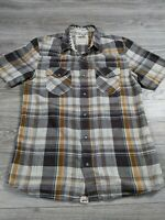 Vans Men's Short Sleeve Pearl Snap Shirt Size Medium M