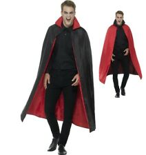 Halloween Fancy Dress Reversible Cape with Collar 127cm Black & Red by Smiffys