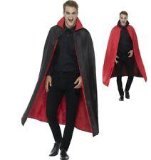Disfraz de Halloween Reversible Capa con Cuello 127cm Negro & Rojo por Smiffys