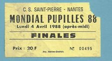 TICKET  WORLD CUP  FINALES PUPILLES 1988  4/4/1988