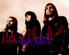 BAND OF SKULLS SIGNED AUTOGRAPHED 10X8 INCH REPRO PHOTO PRINT