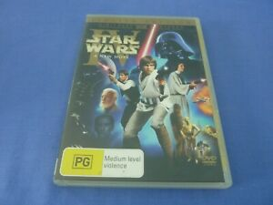 Star Wars IV A New Hope DVD Harrison Ford Carrie Fisher R4 Free Postage