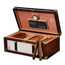 Humidor Supreme SAN TROPEZ Cigar HUMIDOR Stylish Nautical Look - 120 cigars