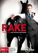 Rake The Complete season series 1, 2 & 3 DVD Box Set Region 4 New & Sealed