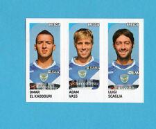 PANINI CALCIATORI 2011-2012-Figurina n.509- EL KADDOURI+VASS+SCAGLIA-BRESCIA-NEW